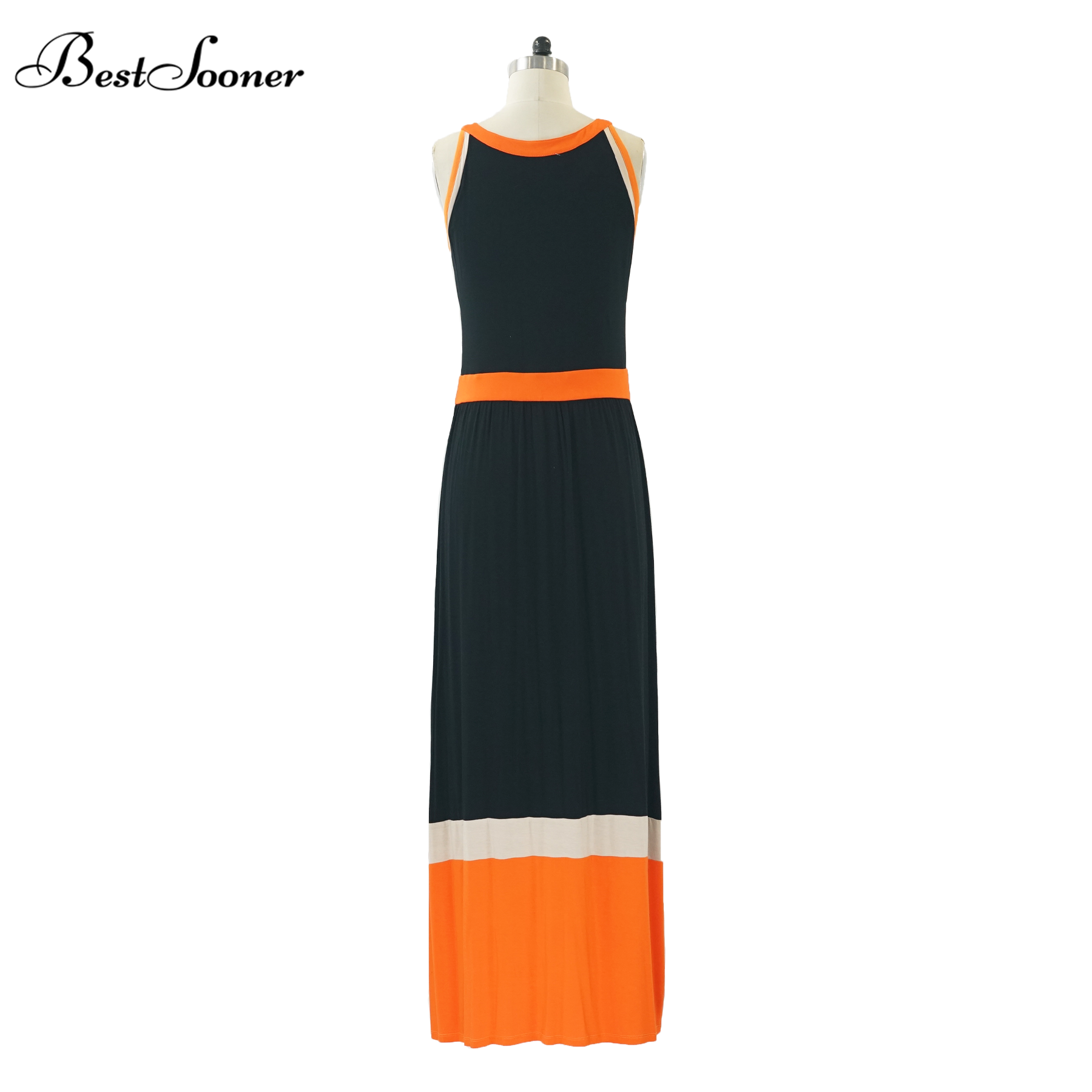 ce676ed6b19b1 مثير الرسن الأفريقي بازان التطريز تصميم طويلة ماكسي فستان مخطط النساء الصيف