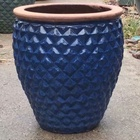 large Garden Outdoor hand glazed ceramic plant pot