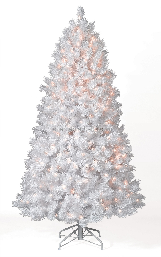 Wholesale White Pvc Pre Lit Christmas Tree Fancy Led Lighted ...