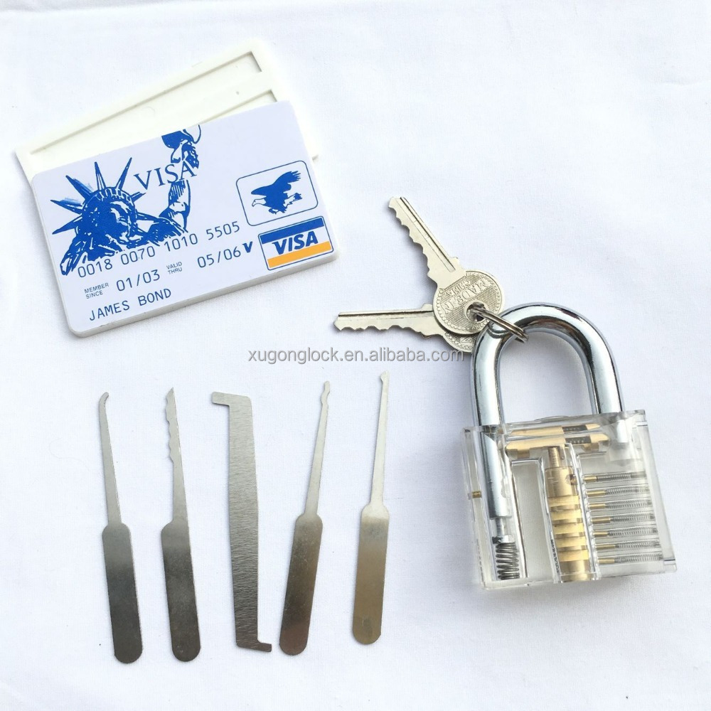 Shopping online Jamesbond lock pick set transparent locksmith tools