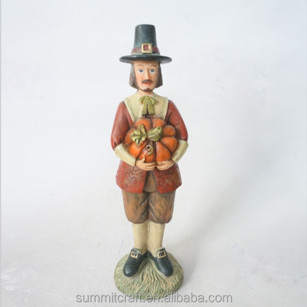 Thanksgiving decorations resin funny garden figures statues