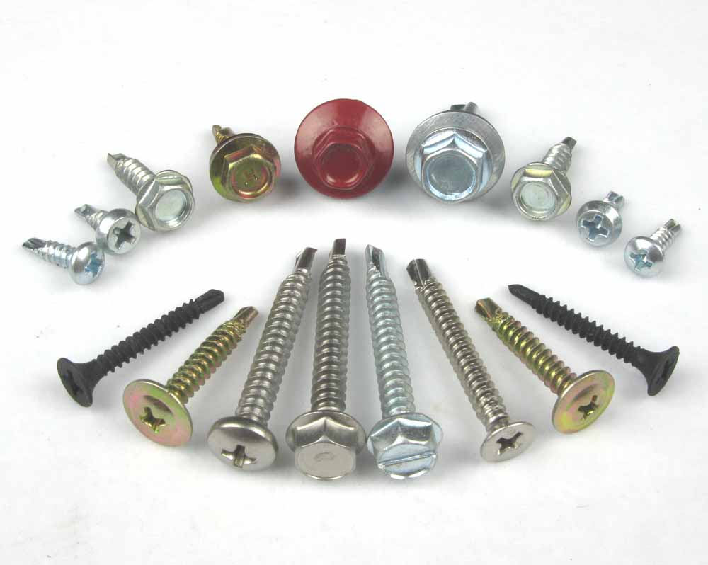 Metal Roofing Zinc Plated Hex Washer Head Self Drilling Screws ...