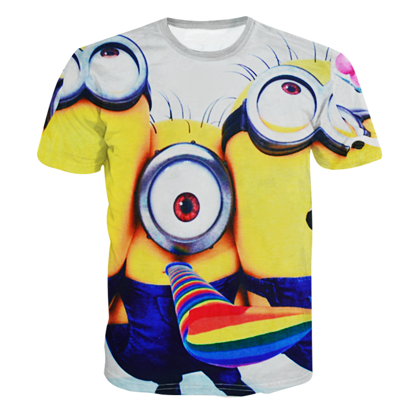 c7d1af85 Get Quotations · Alisister new fashion 2015 men/women cartoon t shirt  printed Despicable Me minion t shirts