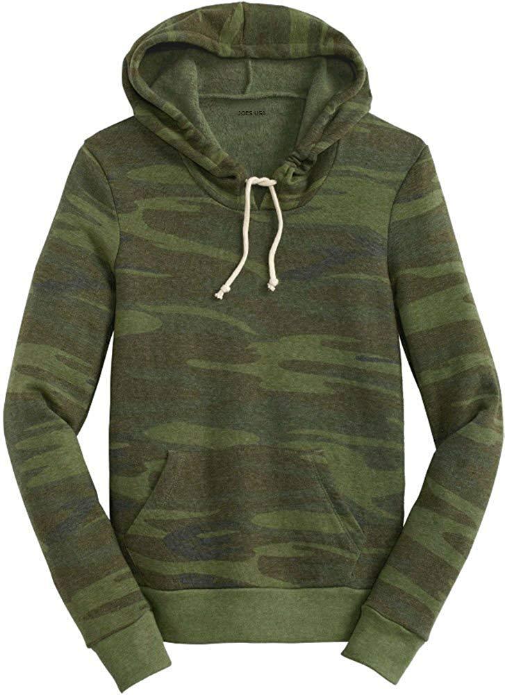 20c65793ad8 Get Quotations · Joe s USA Ladies Athletic Eco-Fleece Pullover Hoodie - Hooded  Sweatshirts XS-3XL