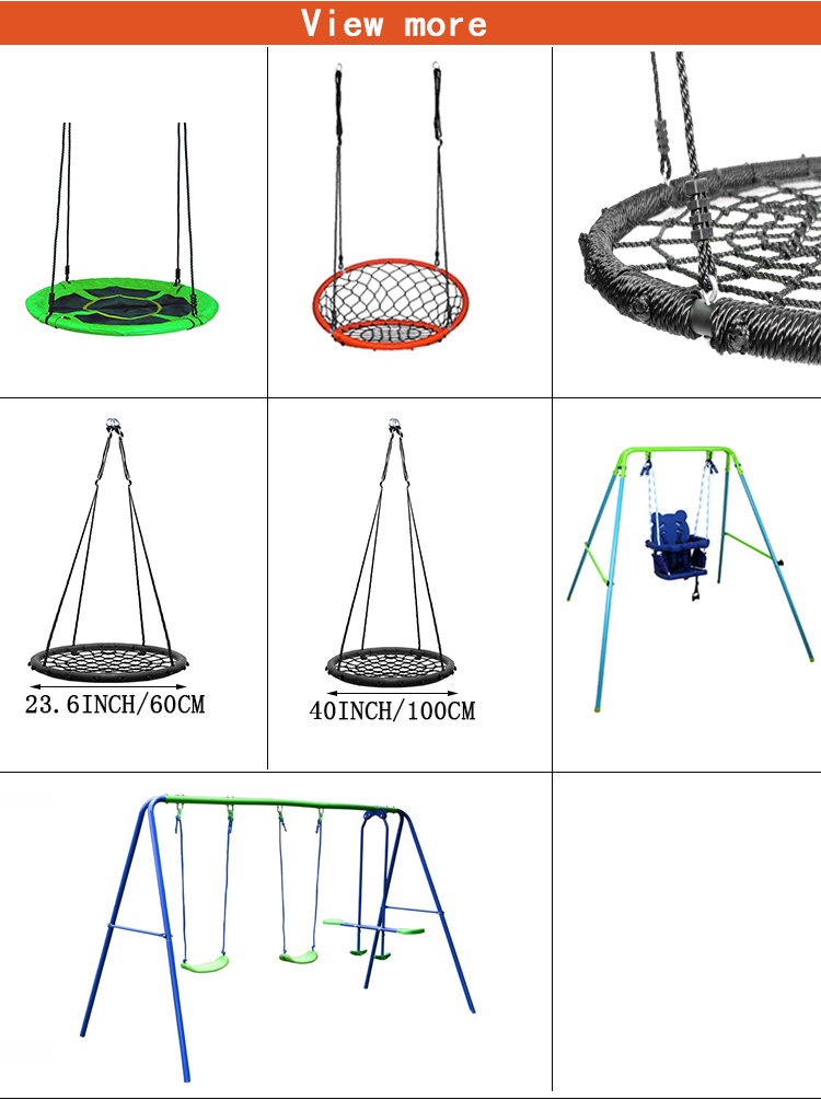 Outdoor Sporting  Round Spider Web Tree Net Swing For Children