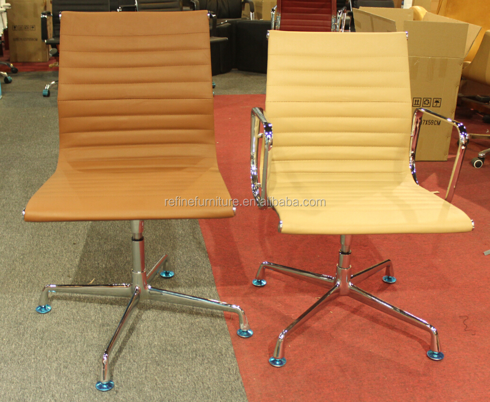 Sedie Da Ufficio Senza Rotelle : Nero moderno sedie girevoli da ufficio in pelle senza ruote rf