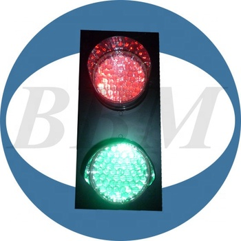 CE 120mm red green traffic led light with cobweb lens