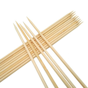 Custom high quality kebab skewer bbq bamboo skewers bamboo sticks Chinese supplier