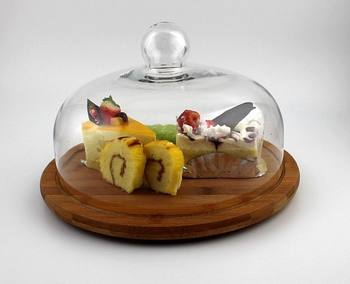 Bamboo Cheese Board Set with Acrylic Cover & Bamboo Cheese Board Set With Acrylic Cover - Buy Round Bamboo Cheese ...