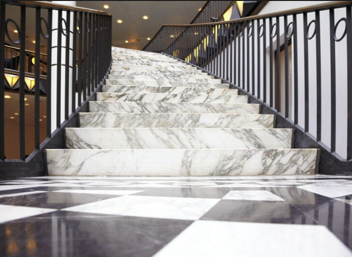 Construction Material High Quality Italy Carrara Marble Stairs Marble Slabs  600x600 Tile Marble Floors And Step