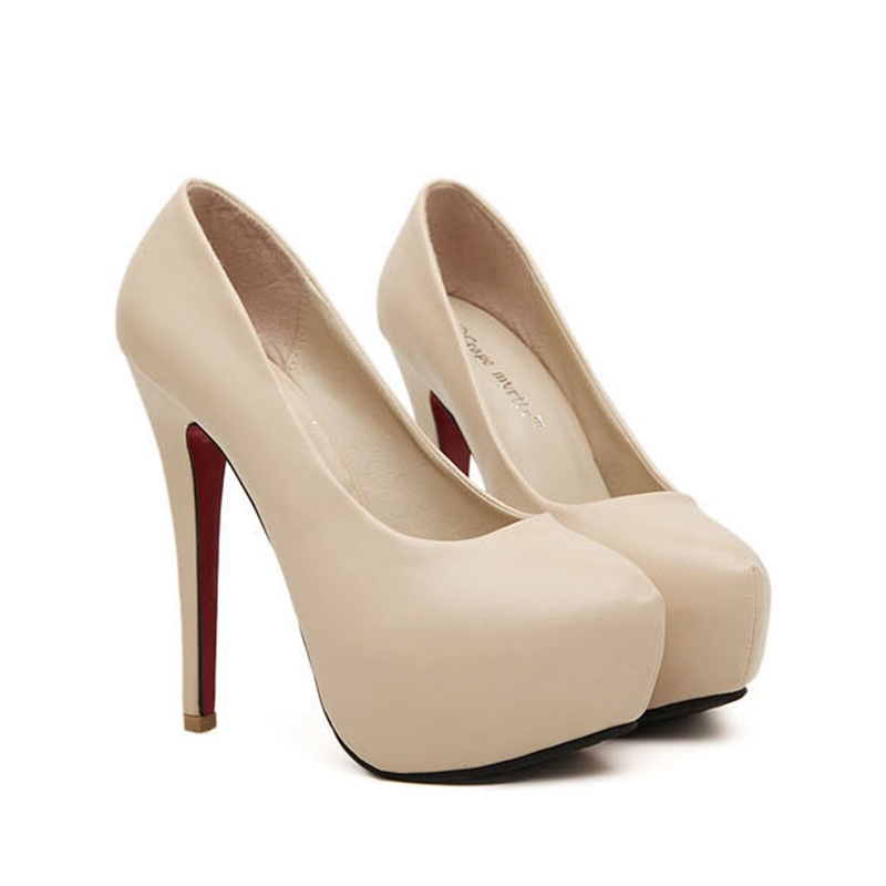 Get Quotations · 2015 New Women Pumps Bridal Dress Sexy High Heel Wedding  Shoes Platform Sexy Stiletto Heels Pumps