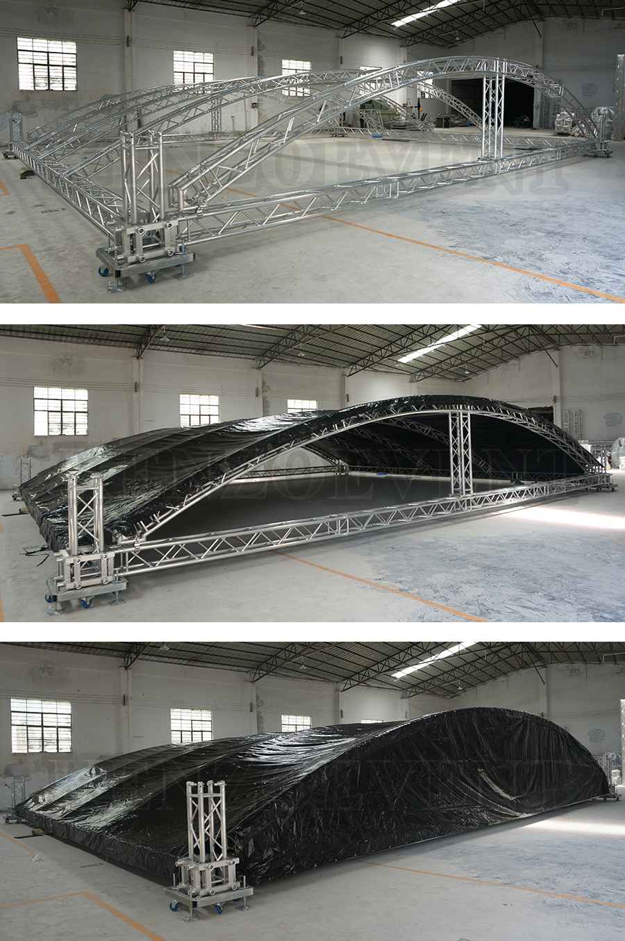Outdoor concert line array speakers truss lift system