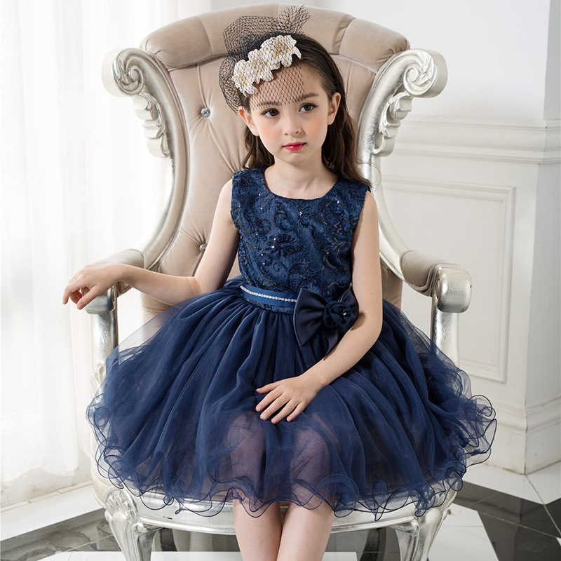 X1039 2017 new arival baby girl party dress puffy bambini abiti disegni cute baby girl fancy dress