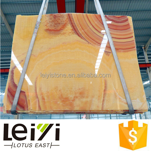 Texture soft natural yellow onyx price polished slab