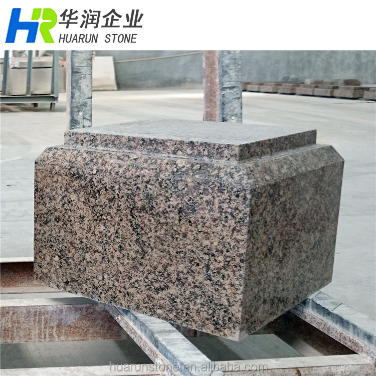 Brown Indian Granite Autumn Harmony Special Shape Granite Exterior Wall  Cladding
