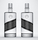 High quality 750ml round glass Vodka brandy rum liquor bottle with Polymer lid