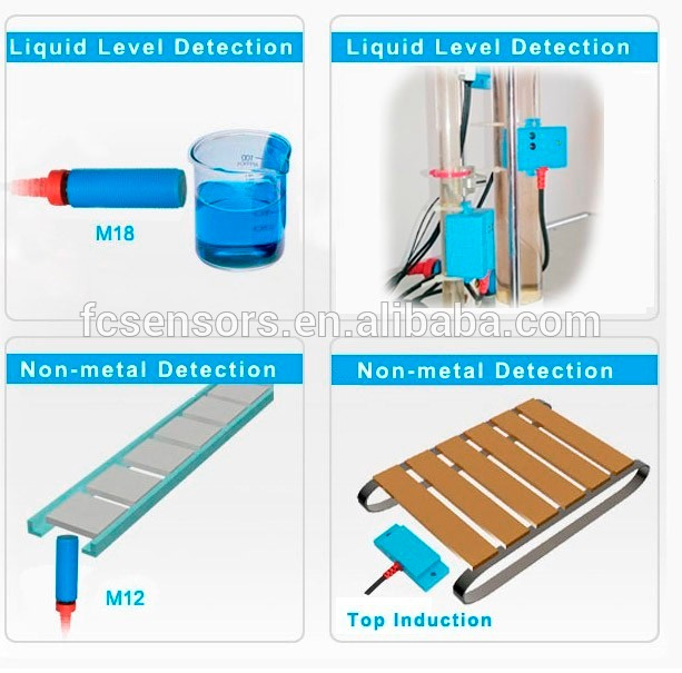 24v 13mm Npn Water Liquid Level Detector Capacitive