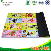Manufacturer Custom printed cartoon smellless soft baby play mat