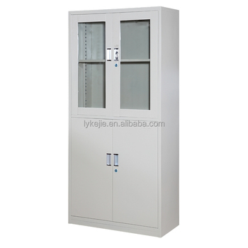 Attirant Office Design Steel Office Furniture Half Glass Door DIY Steel Filing  Cabinet Metal Cupboard