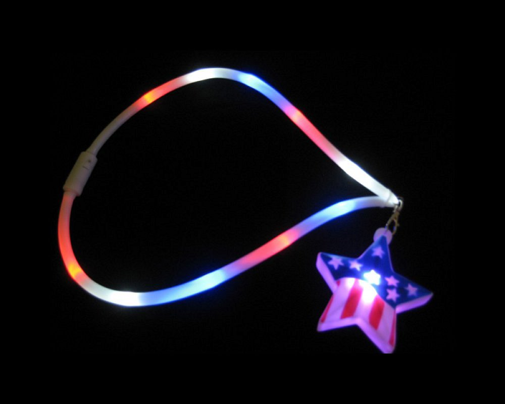 Patriotic Star Lanyard Necklace Great for Political Conventions & National Holidays!