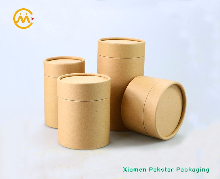 High quality customized ECO-friendly brown Kraft cylinder box solid thick cardboard tube