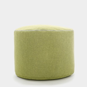 Modern Ottoman Stool Round Fabric Sofa Stool Footstool Detachable Fabric Pouf Chair
