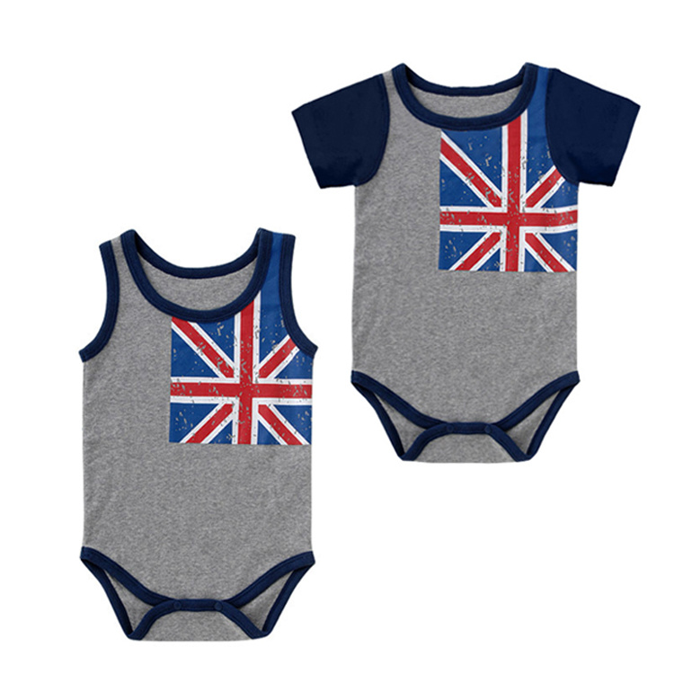 Low Price New Born Boys Body Suit Baby Clothes Rompers Custom Print