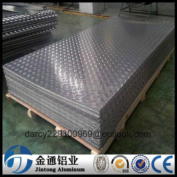 aluminium mill 1000 series alloy tread/ diamond/ checker/ durbar plate price per ton
