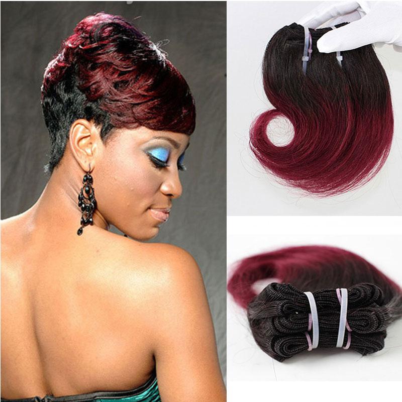 8inch Short Human Hair Wavy Weave Body Wave Style Brazilian Virgin