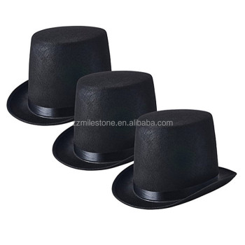 Wholesale Cheap Round Felt Jazz Lincoln Stovepipe Top Hat - Buy Cheap Hats  For Sale c9578318cae