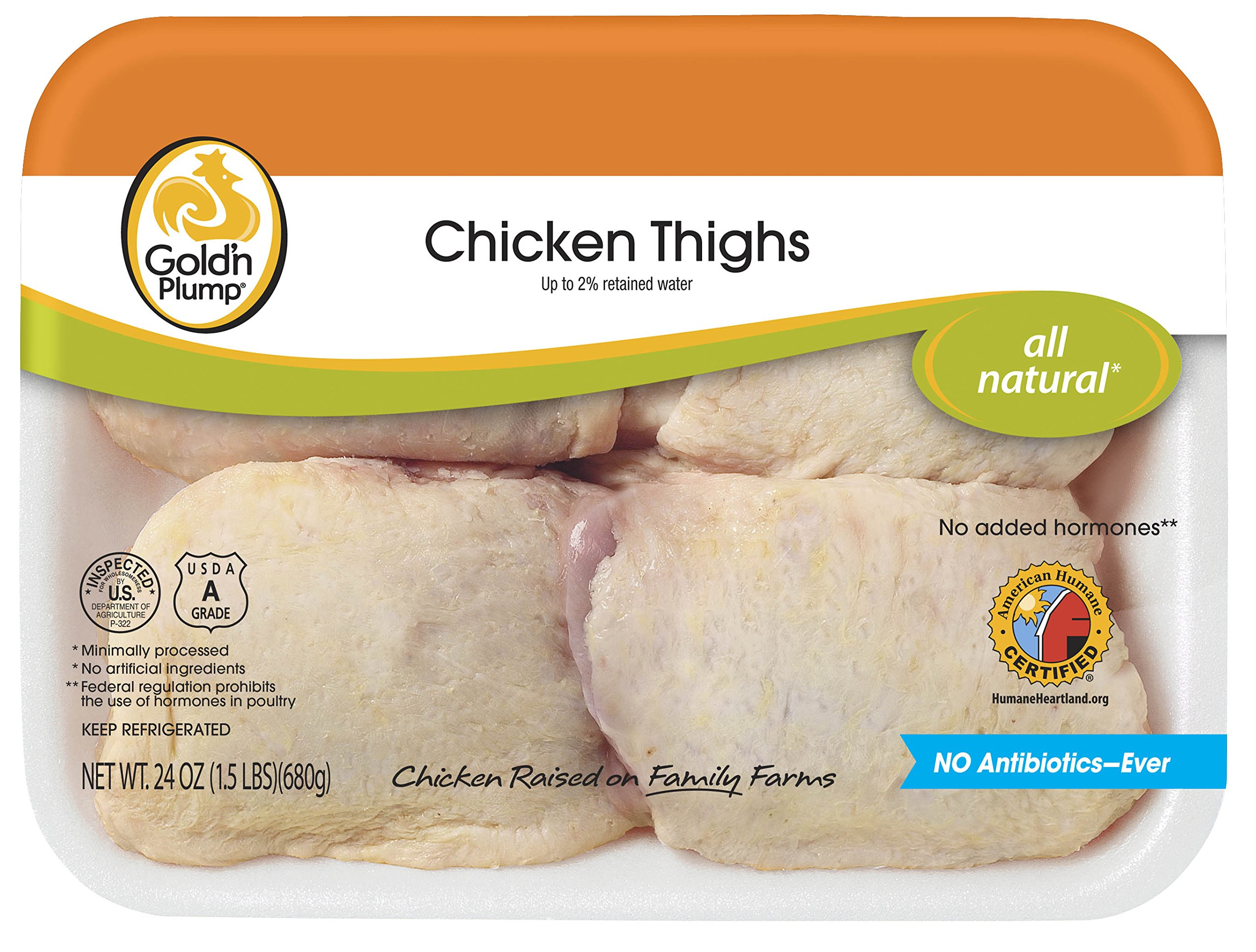 Gold'n Plump, Chicken Thighs, 24 oz