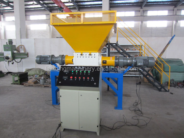 Hoge kwaliteit dubbele as plastic shredder, afval rubber/papier/tire/metalen recycling machine