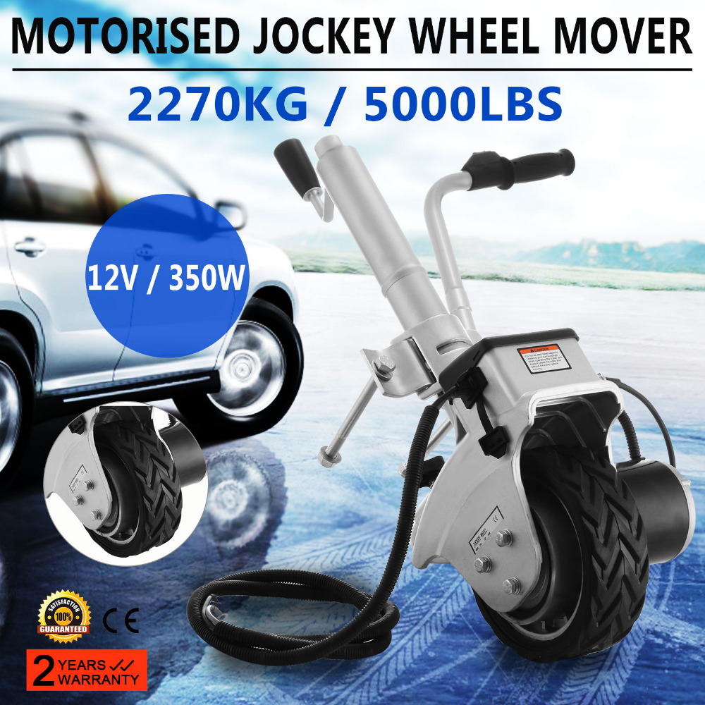 Motorised Trailer Jockey Wheel 12V Mover Electric Caravan Boat Dolly Auto  Automatic Brake DC Motor Adjustable