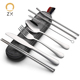 Stainless Steel Travel Camping Cutlery Knife Fork Spoon Chopsticks Set With Case,Lunch Box Utensils, Portable Silverware Set