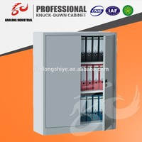 Metal cupboard with 2 shelves Storage cupboard steel 2 swing door office filing cabinet Metal storage