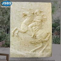 Large Wall Sculptures Running Horse Relief