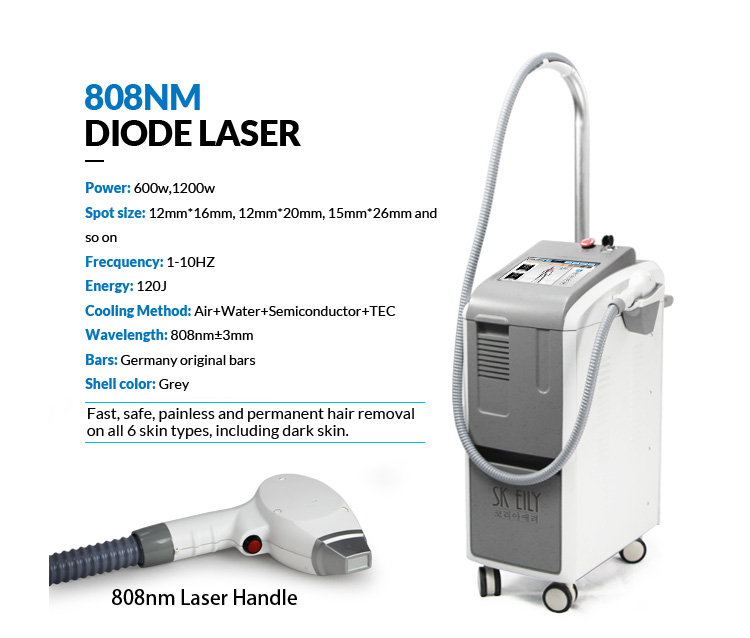 Permanent Effective Hair Removal 808nm Laser Diode Equipment
