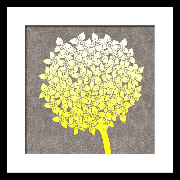 Gold Foil and Floral Watercolor Art Print on paper with framed 8 inches x 10 inches