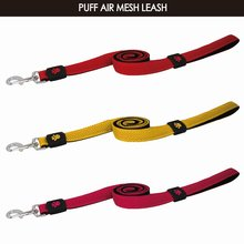 New pet products air mesh leash for dogs with heavy duty snap Extra Large Maroon