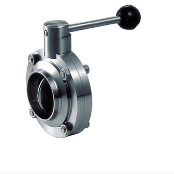 sanitary stainless steel weld butterfly valve for liquid project