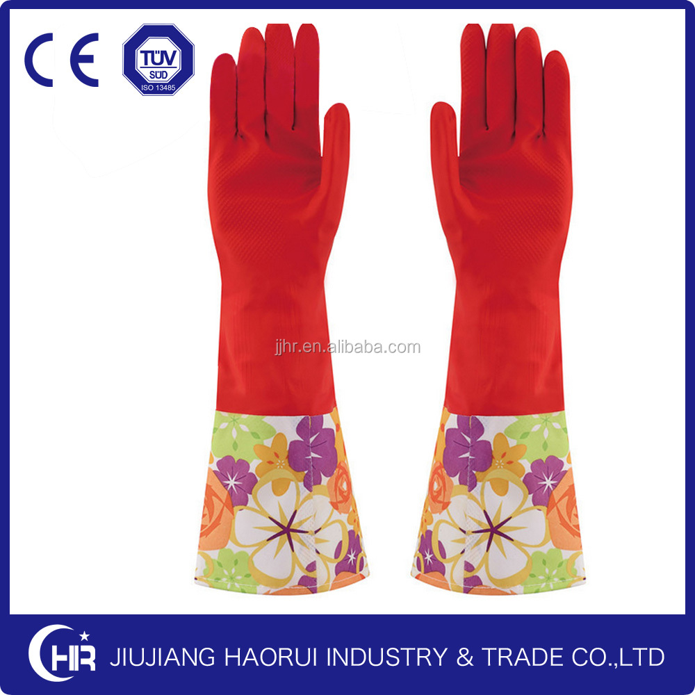 washing latex household gloves