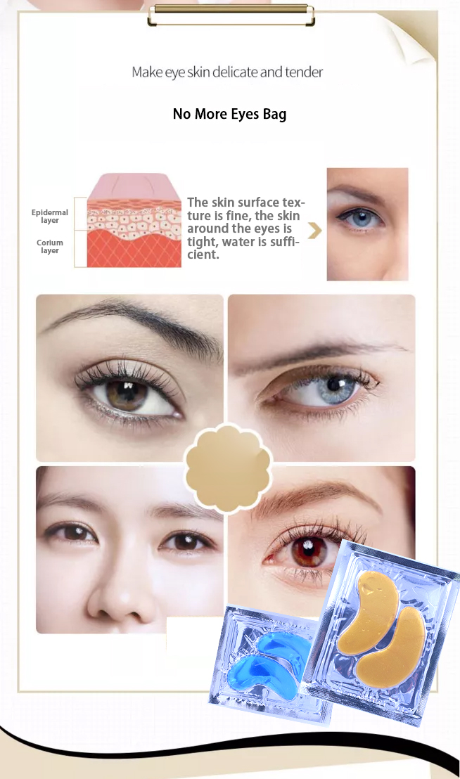 Private Label High Quality Natural Ingredients No Side Effect Collagen Crystal Anti-Aging Gold Eye Mask