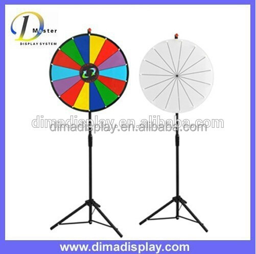 DM 24 inches metal spinning game board,wood spinning wheel