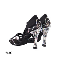 leopard classic high quality comfortable dance shoes latin salsa