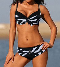 Free shipping Sexy New black white Classic stripe bikini SWIMSUIT SWIMWEAR size M L XL shipping