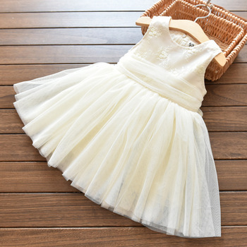 Girls Big Bowknot Wedding Dress Tulle Tutu Ball Gown Princess Party ...