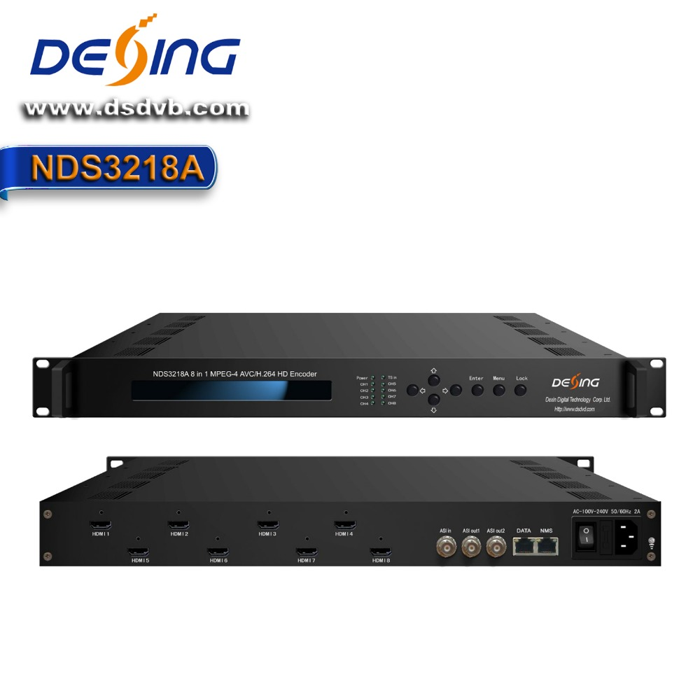 NDS3218A 8in1 h 264 video digitale encoder hardware