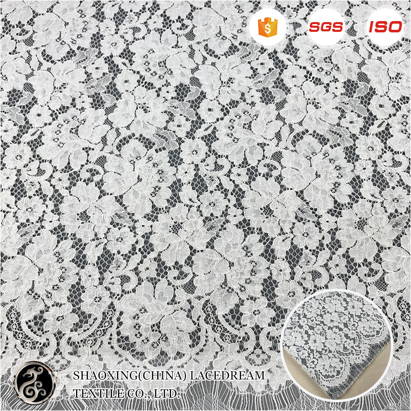 french comfortable high quality 3d bride lace fabric