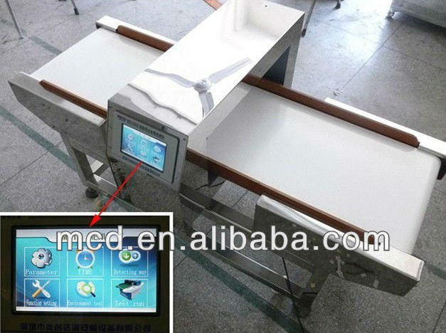 Reliable factory Conveyor metal detector machine for fruit and salty food,conveyor belt needle detector