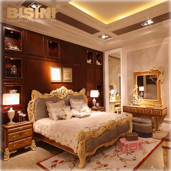 Bisini Luxury Furniture, Bedroom Furniture Set/ Italian Classic Luxury  Furniture/ Rococo French Furniture